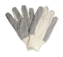 Găng tay vải phủ hạt nhựa đen