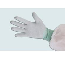 Găng tay sợi Cacbon chống tĩnh điện phủ PU lòng bàn tay