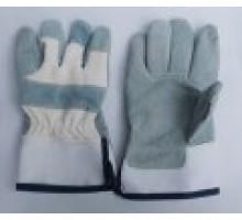 Găng tay da kết hợp vải