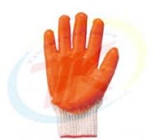 KM-40D Găng tay len phủ cao su đỏ 40g