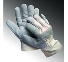 KM25LN - Găng tay da hàn ngắn kết hợp vải