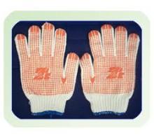KM70H- Găng tay len phủ hạt nhựa màu cam HS